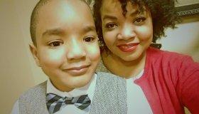 Kelly Glass With Son Kaleb
