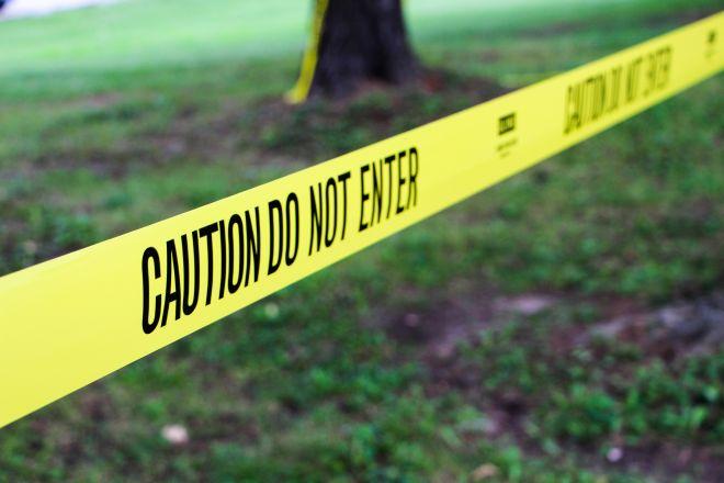Caution Tape At Park