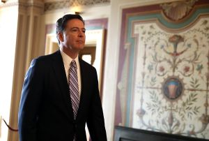 FBI Director James Comey Briefs Senators On Capitol On Intelligence Matters