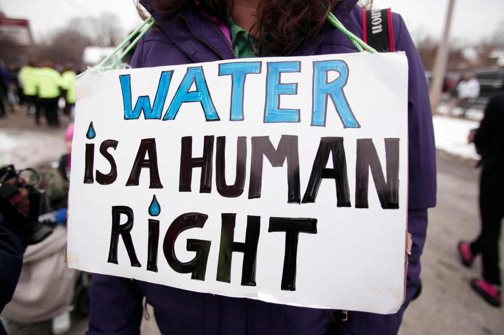 Jesse Jackson Leads National March In Flint To End Water Crisis