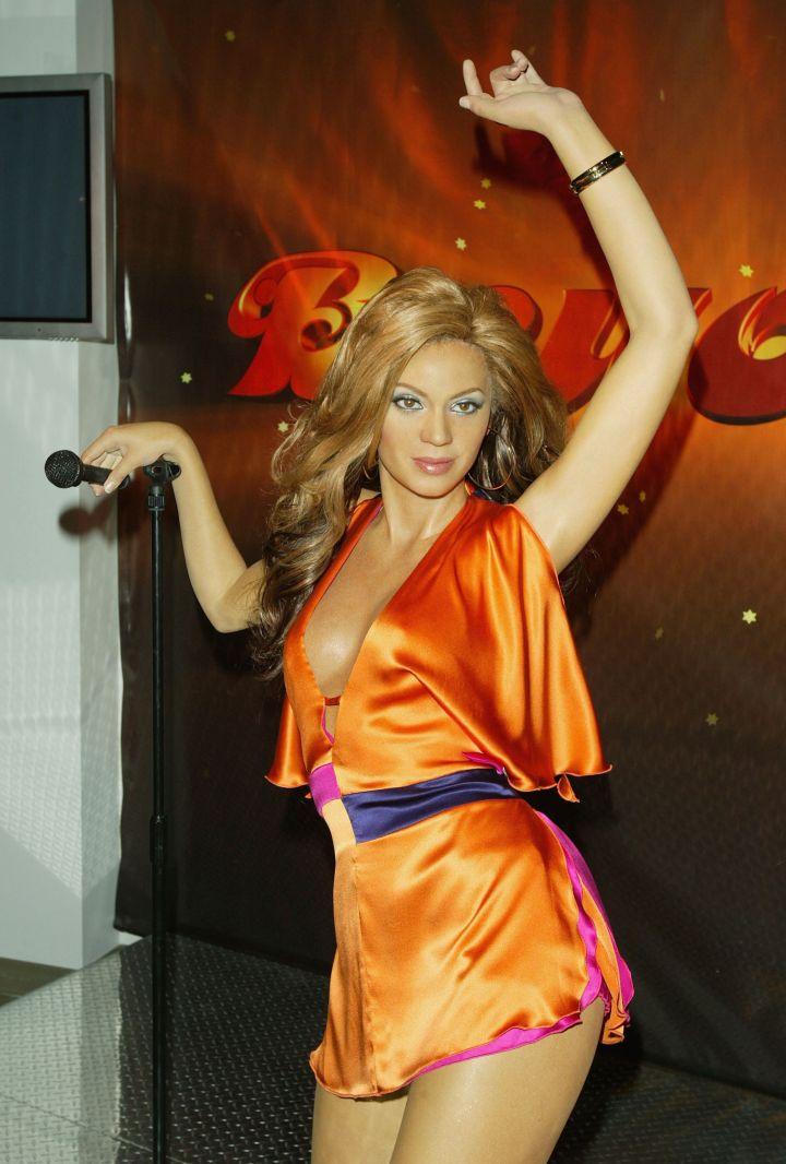 Beyonce Wax Figure At Madame Tussaud