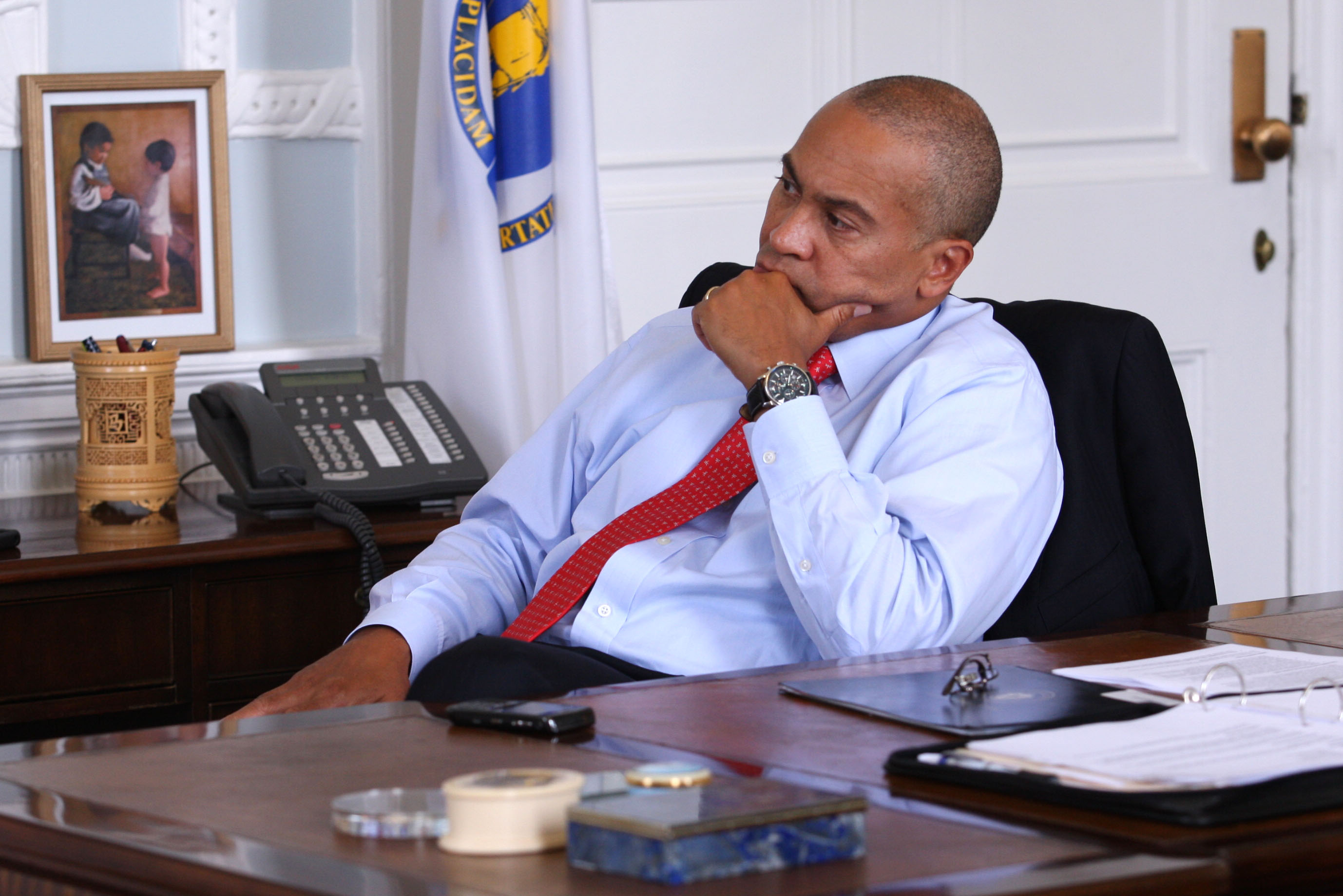 Governor Patrick Watches Supreme Court's Ruling On Affordable Care Act
