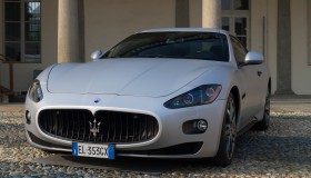 A Maserati. Supercar and luxury sports car on exhibition...