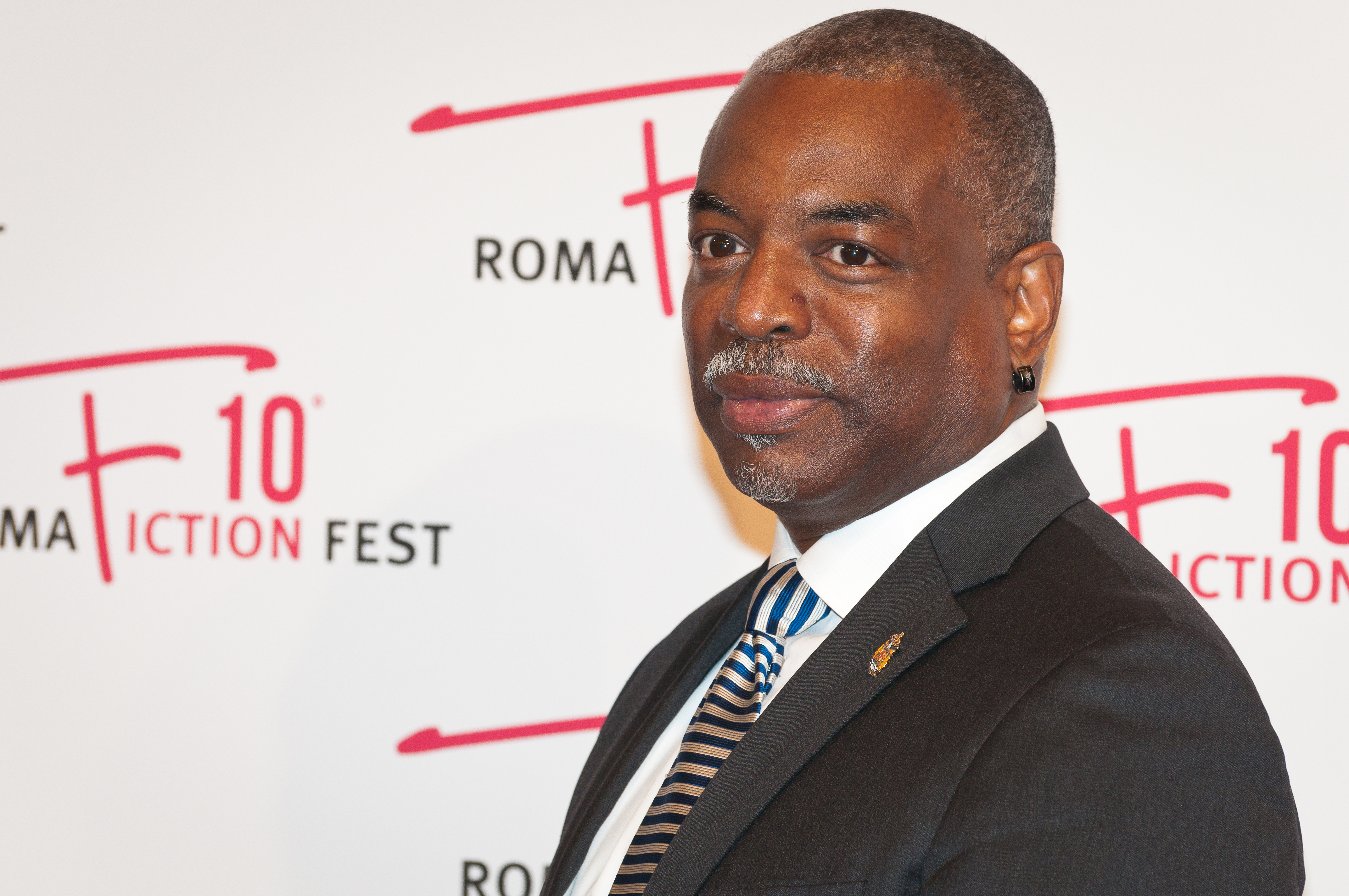 LeVar Burton walking the red carpet of 'Roots' during the...