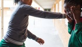 School girl bullies another girl