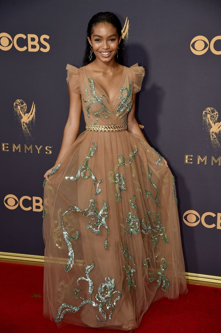 YARA SHAHIDI AT THE 69tTH ANNUAL PRIMETIME EMMY AWARDS, 2017