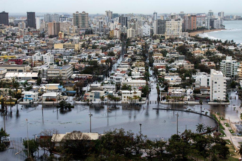 SAN JUAN, PUERTO RICO SEPTEMBER 22: Hurricane Maria passed thr