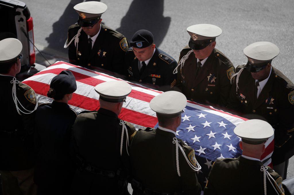 Funeral Held For Las Vegas Police Officer Killed In Shooting Massacre