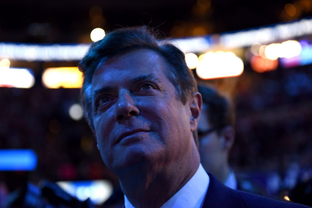 CLEVELAND, OH - JULY 21: Trump campaign manager Paul Manafort l