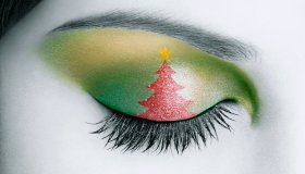 Christmas Eyelid Make-up