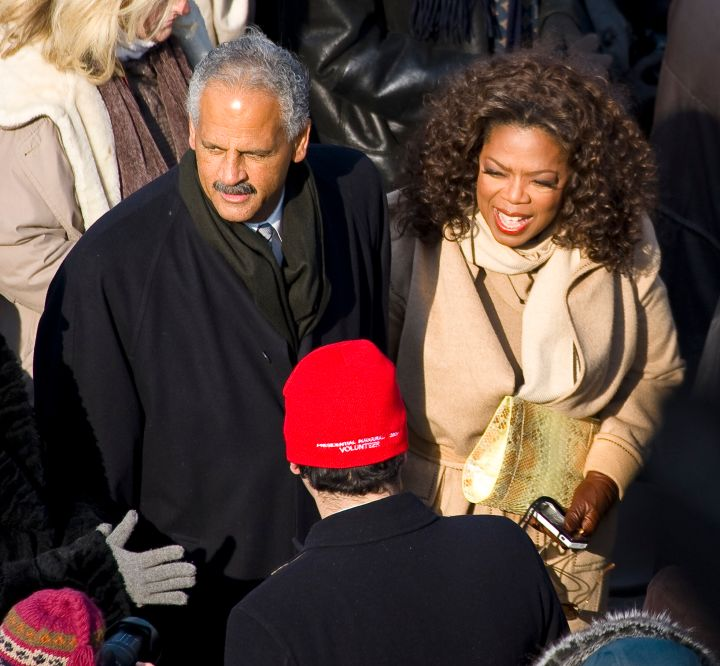 USA – Presidential Inauguration – Oprah Winfrey and Stedman Graham at Inauguration