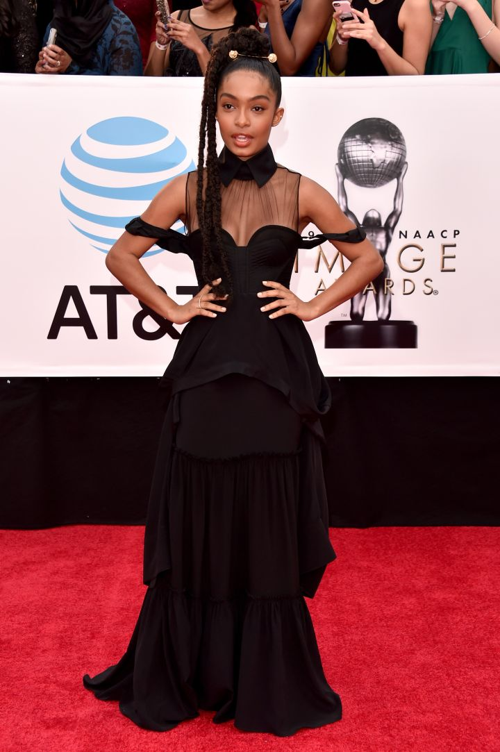 YARA SHAHIDI AT THE 49TH NAACP IMAGE AWARDS, 2018