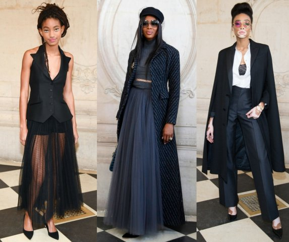 Black Celebs at Christian Dior Show