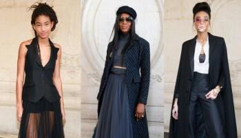 Black Celebs at Christian Dior Show