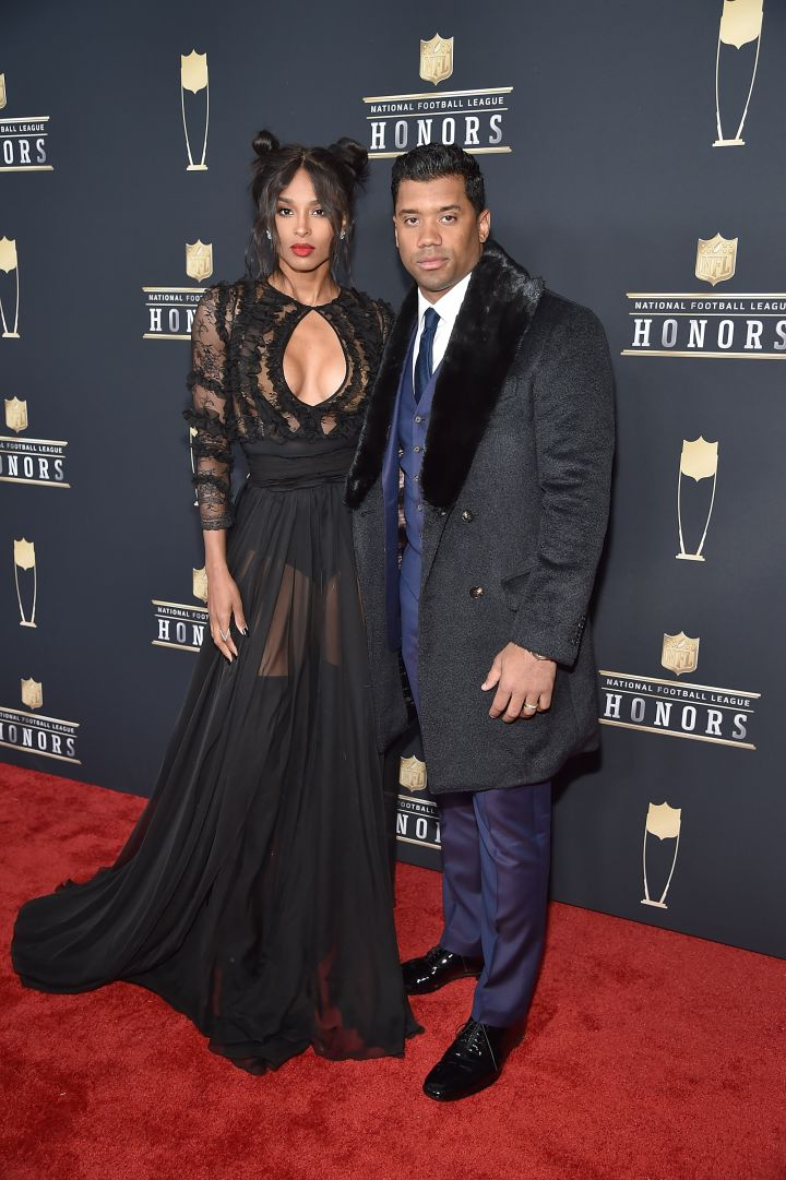 CIARA (L) AND RUSSELL WILSON (R)
