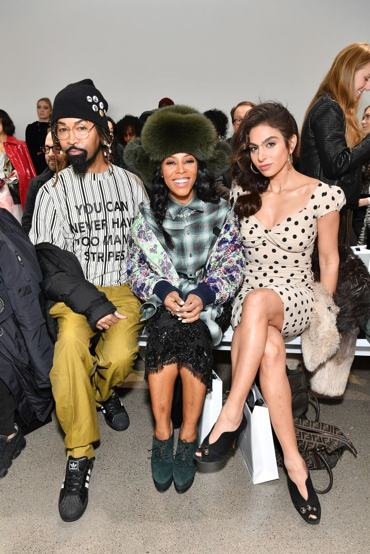 Ty Hunter and June Ambrose attend the Bibhu Mohapatra front row during New York Fashion Week