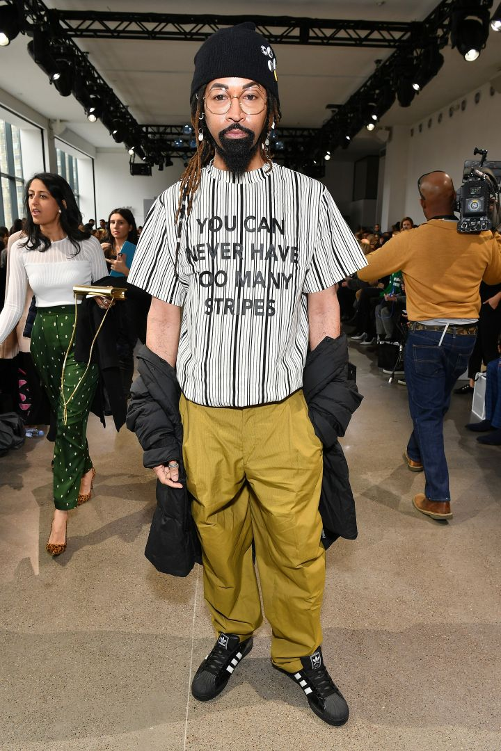 Ty Hunter attends the Bibhu Mohapatra front row during New York Fashion Week