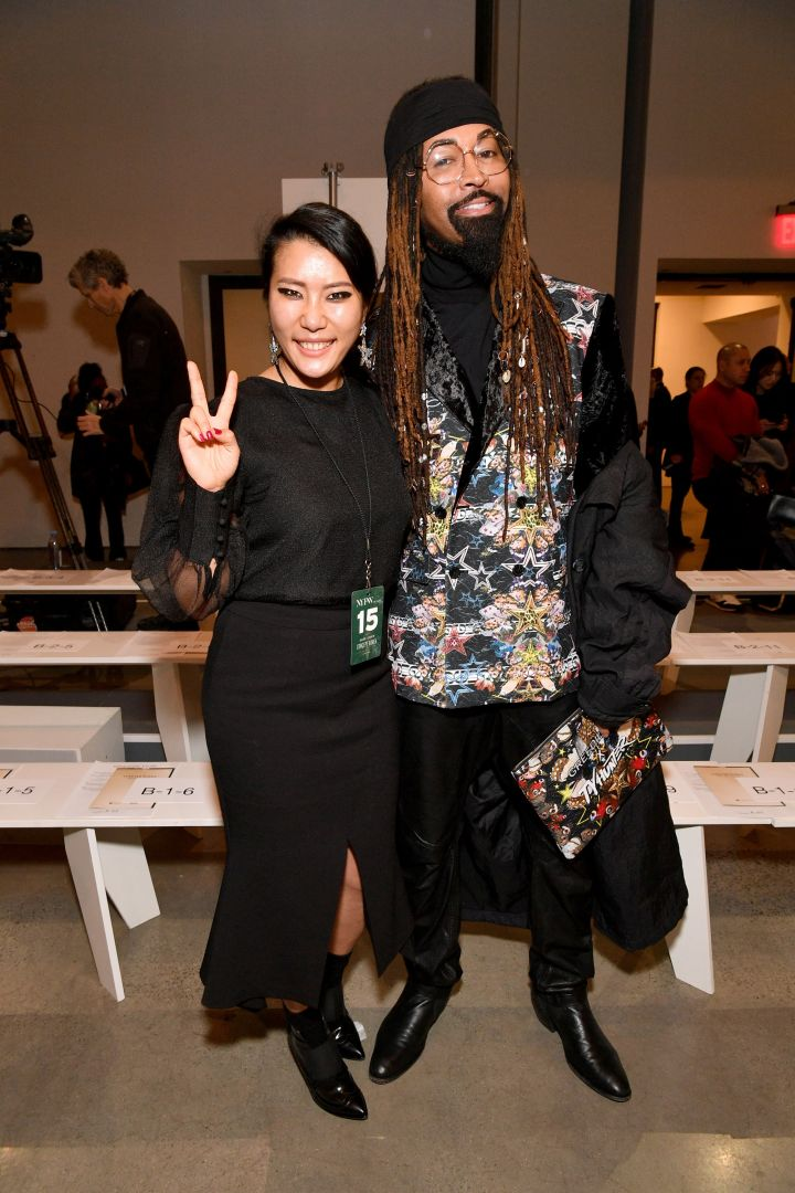 Designer Younhee Park and guest attend the Concept Korea front row
