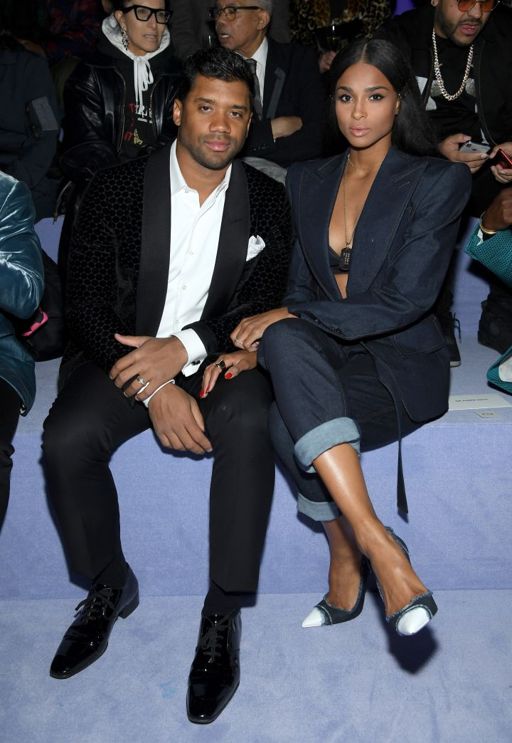Russell Wilson and Ciara attend the Tom Ford Fall/Winter 2018 Men's Runway Show