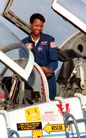 Science Mission Specialist Mae Jemison prepares to