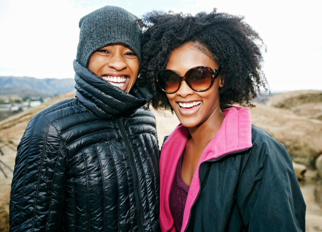 Portrait of smiling Black women