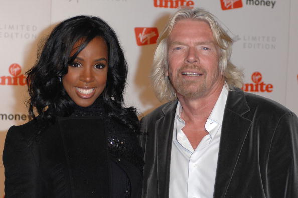 Kelly Rowland With Old Flame Sir Richard Branson