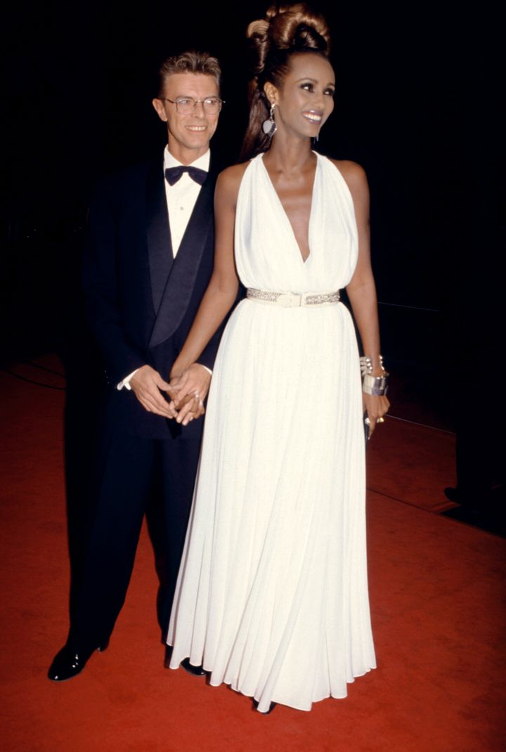 Iman With Hubby, David Bowie