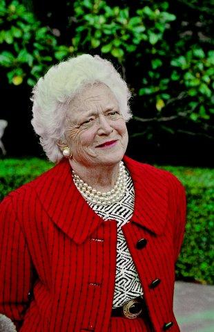 Barbara Bush Meets Press