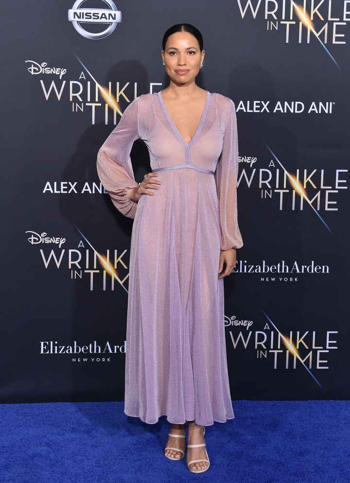 Jurnee Smollett-Bell arrives at the premiere of Disney's 'A Wrinkle In Time'