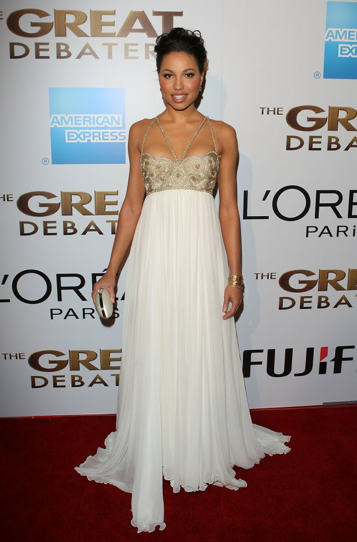 Jurnee Smollett arrives at the premiere of The Great Debaters