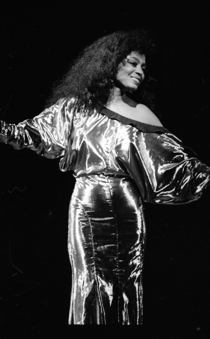 Diana Ross performs during her concert in the Point Depot, Dublin, Ireland