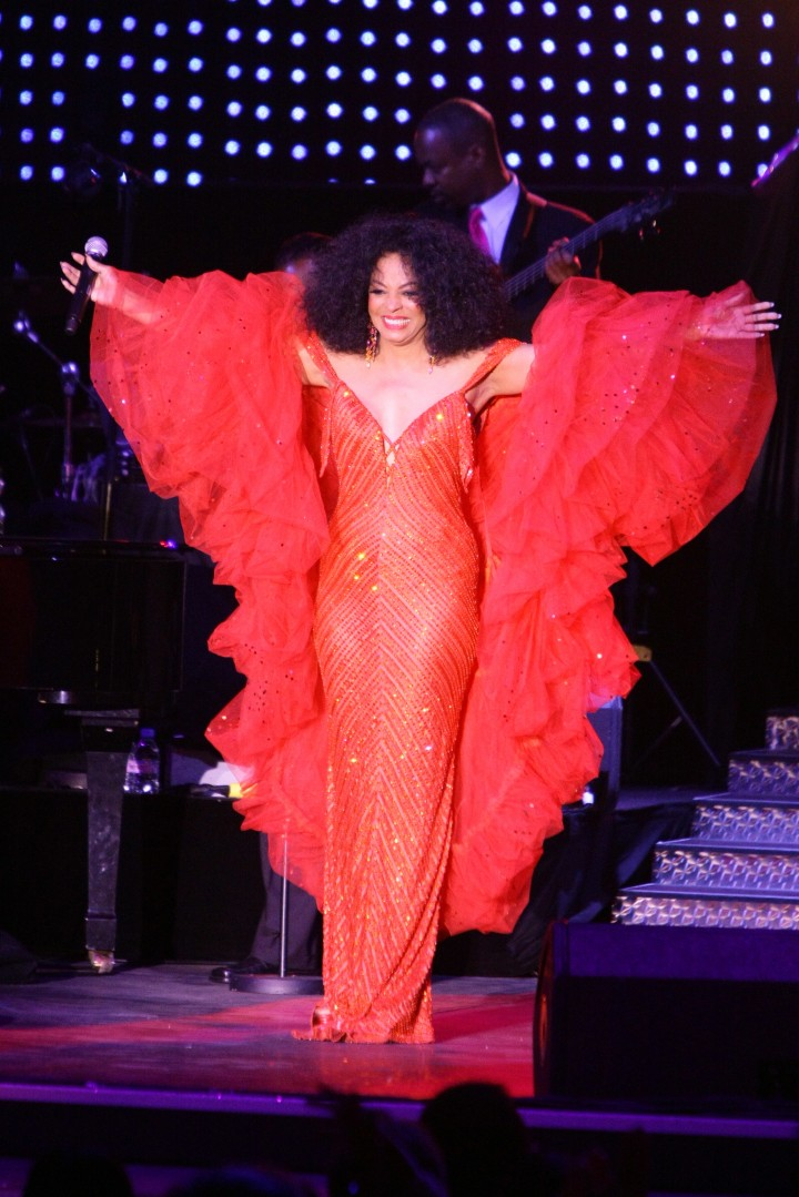 Singer Diana Ross performs during the 59th annual Red Cross Ball, in Monaco