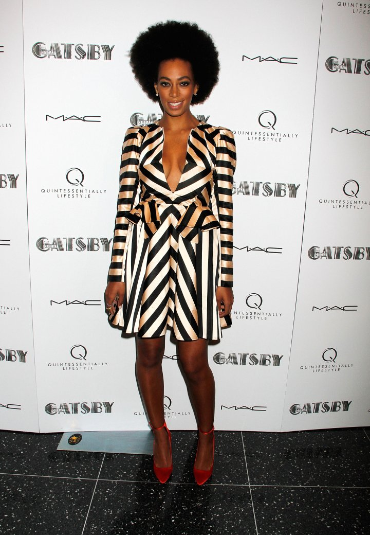 "Solange Knowles attends the Pre-Met Ball screening of ""The Great Gatsby"" at The Museum of Modern Art"