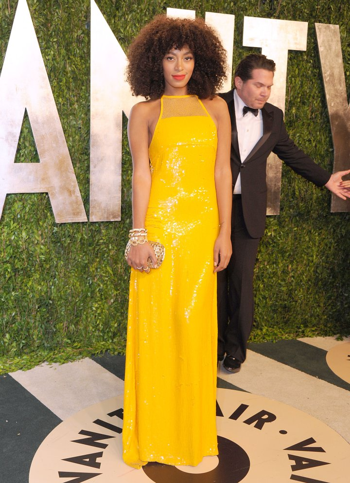 Solange Knowles attends the 2013 Vanity Fair Oscar party