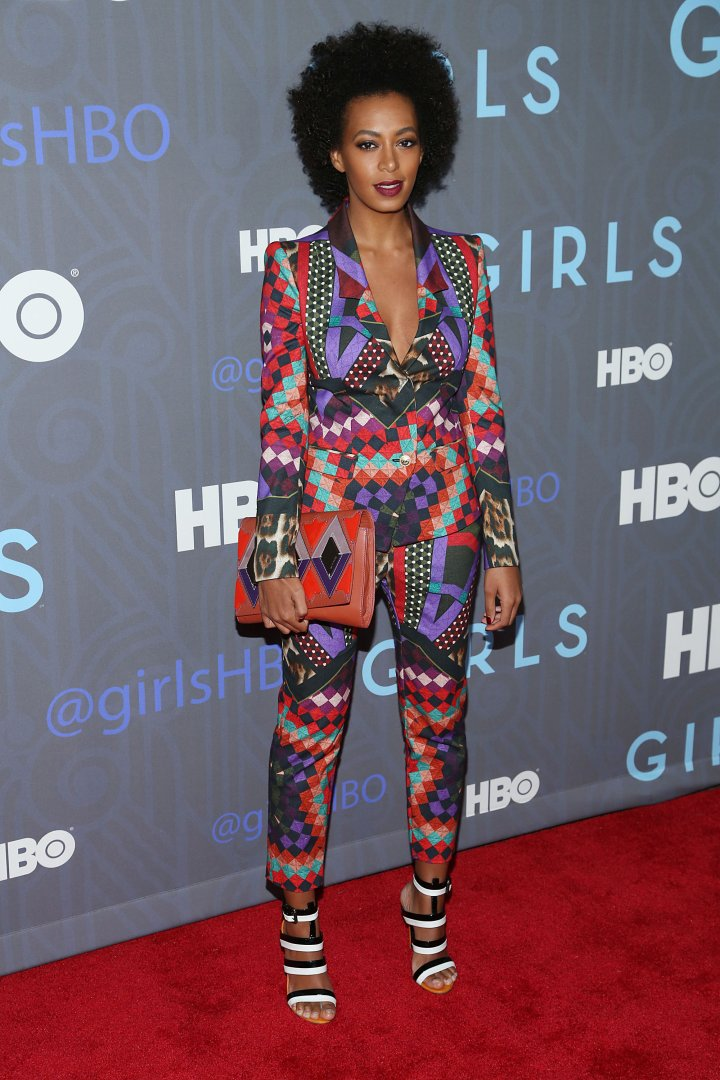 "Solange Knowles attends the HBO ""Girls"" season 2 premiere"