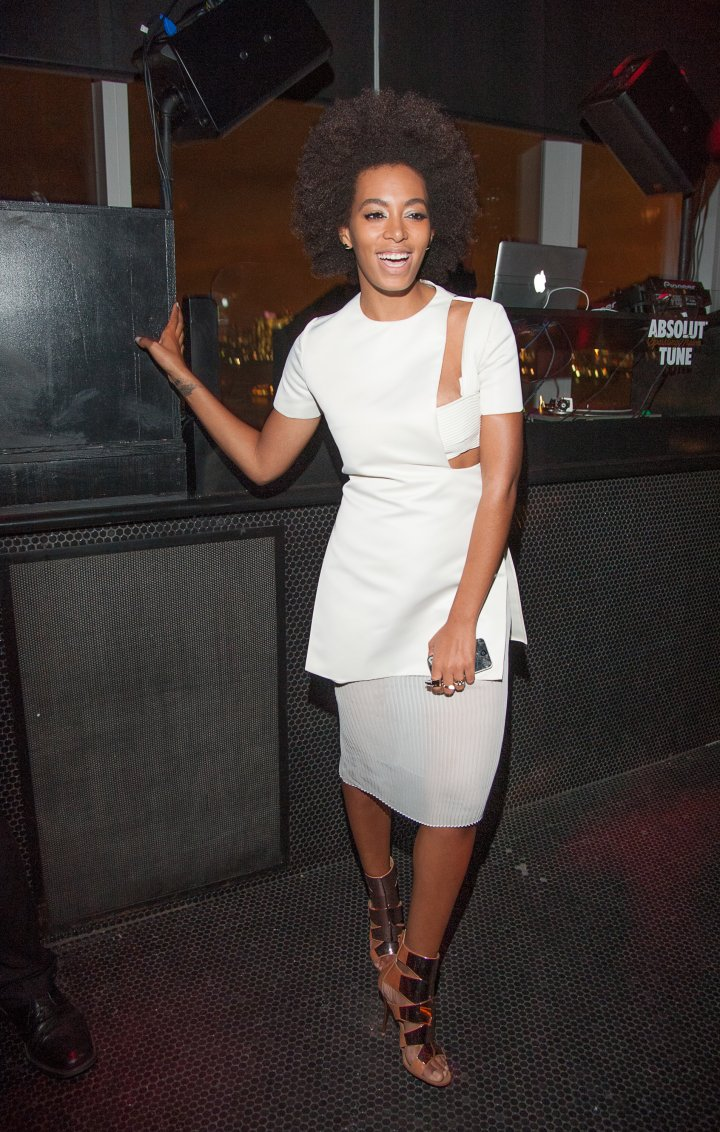 Solange Knowles attends the Absolut Tune Launch Party at The Top of The Standard