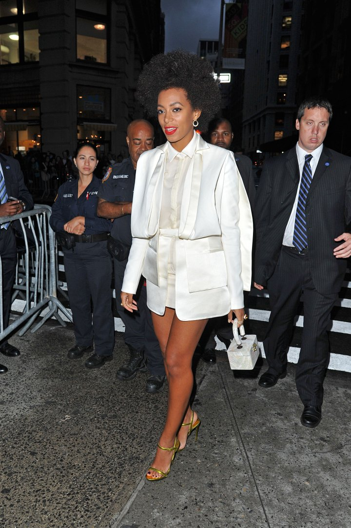 Solange Knowles arrives at the President Barack Obama Fundraiser