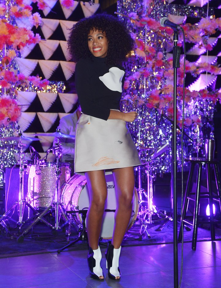 Solange Knowles performs at The Armory Party at MOMA