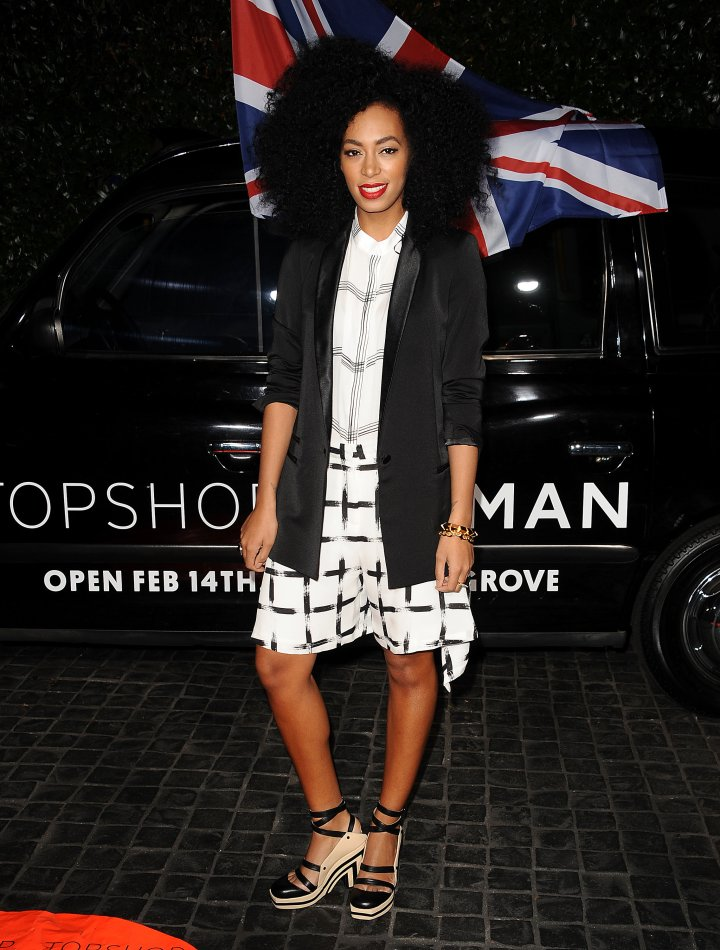 Solange Knowles attends the Topshop Topman LA flagship store opening party