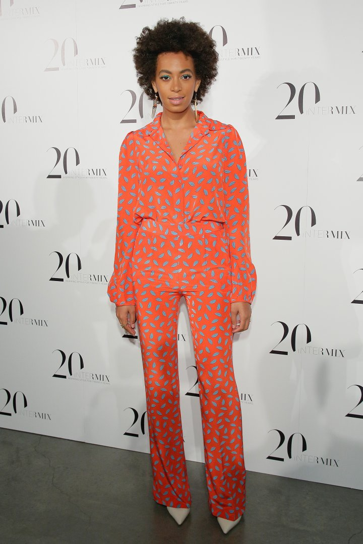 Solange attends the Intermix 20th Anniversary Celebration at The New Museum