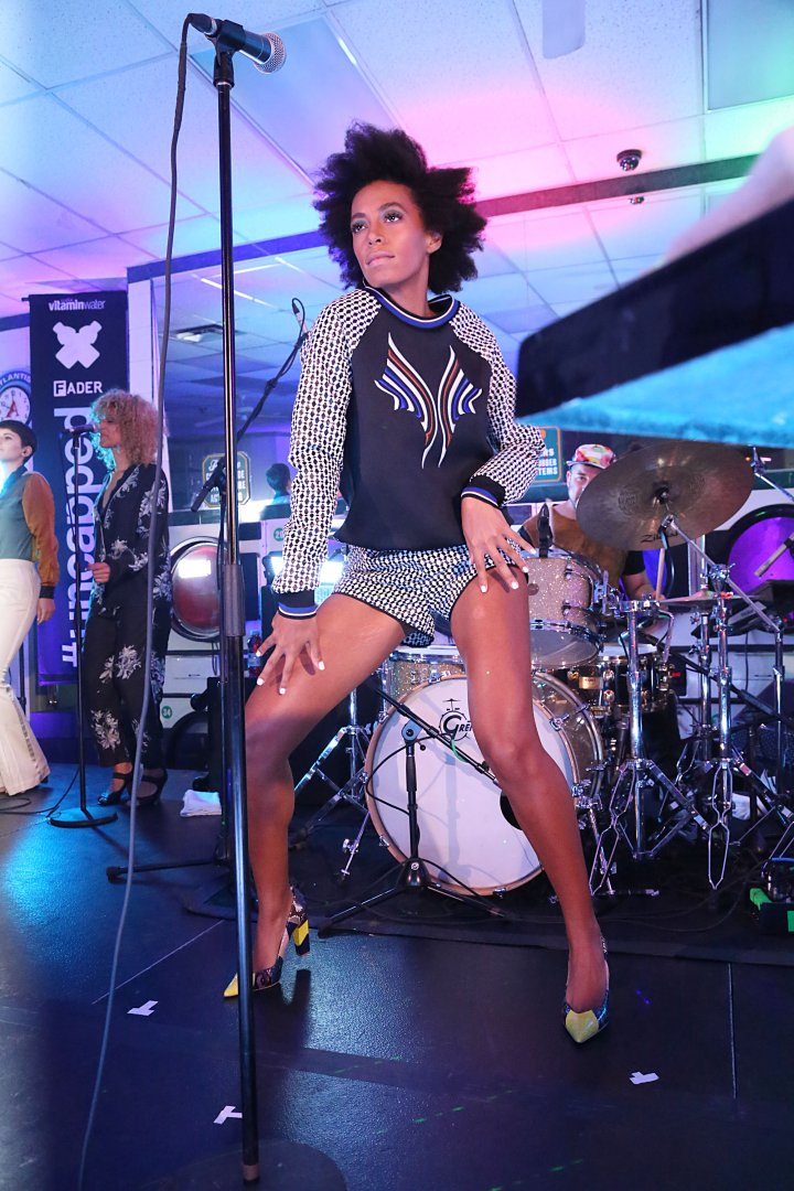 Solange Knowles at the Atlantis Landromat