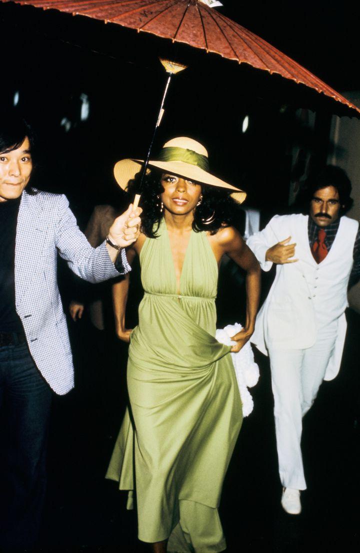 American singer Diana Ross