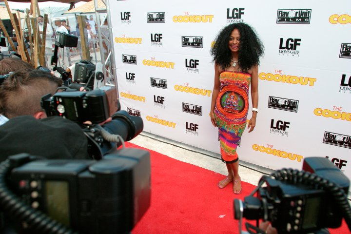 Diana Ross on the red carpet for The Cookout.