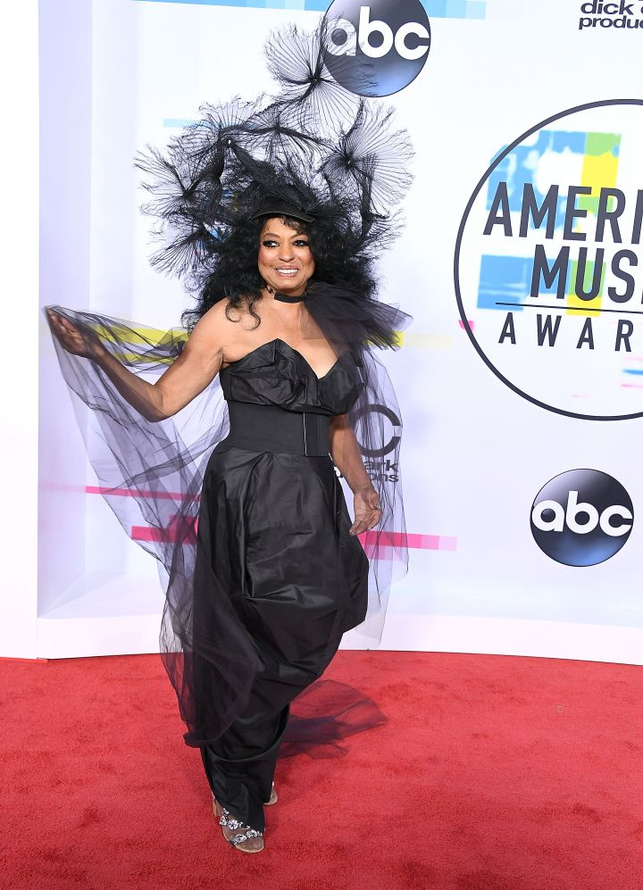 DIANA ROSS AT THE AMERICAN MUSIC AWARDS, 2017