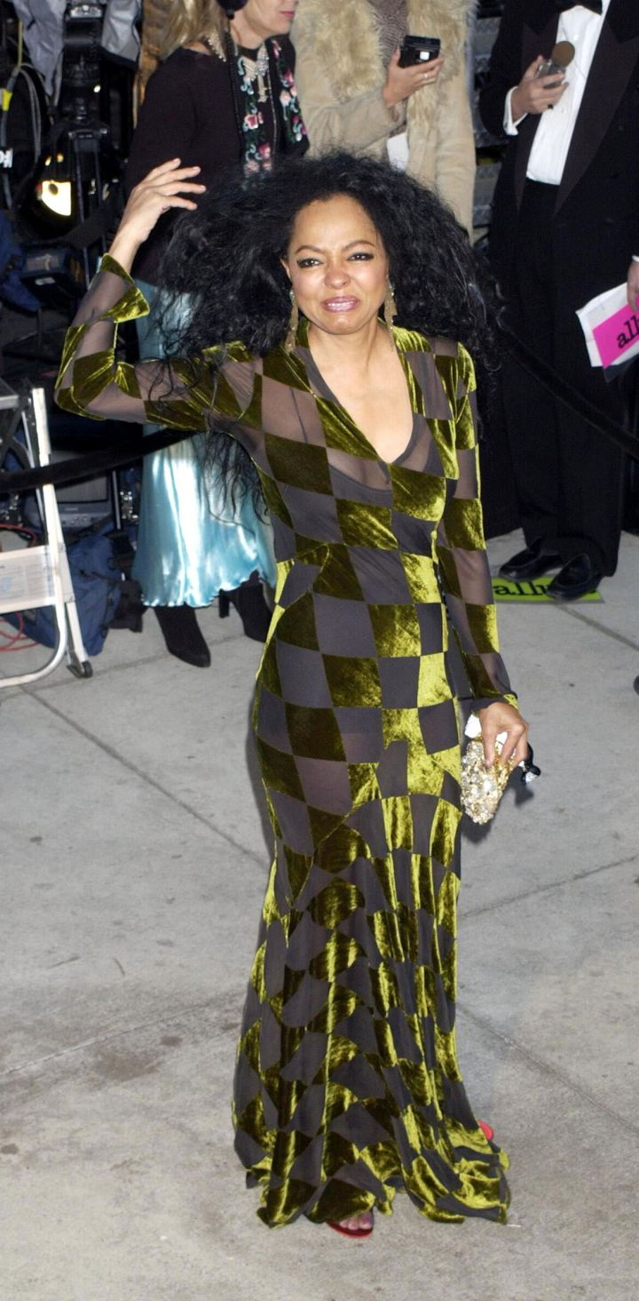 DIANA ROSS AT THE VANITY FAIR POST-OSCARS PARTY, 2002