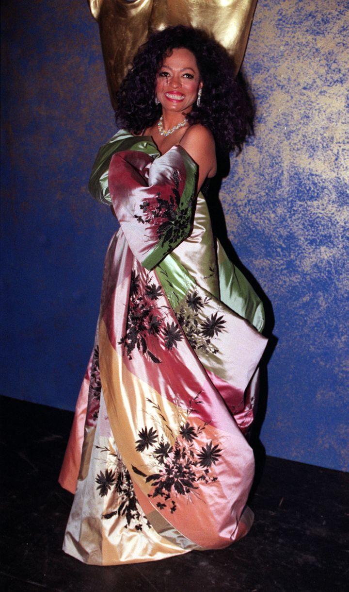 Diana Ross at the BAFTA Award ceremony at the Royal Albert Hall