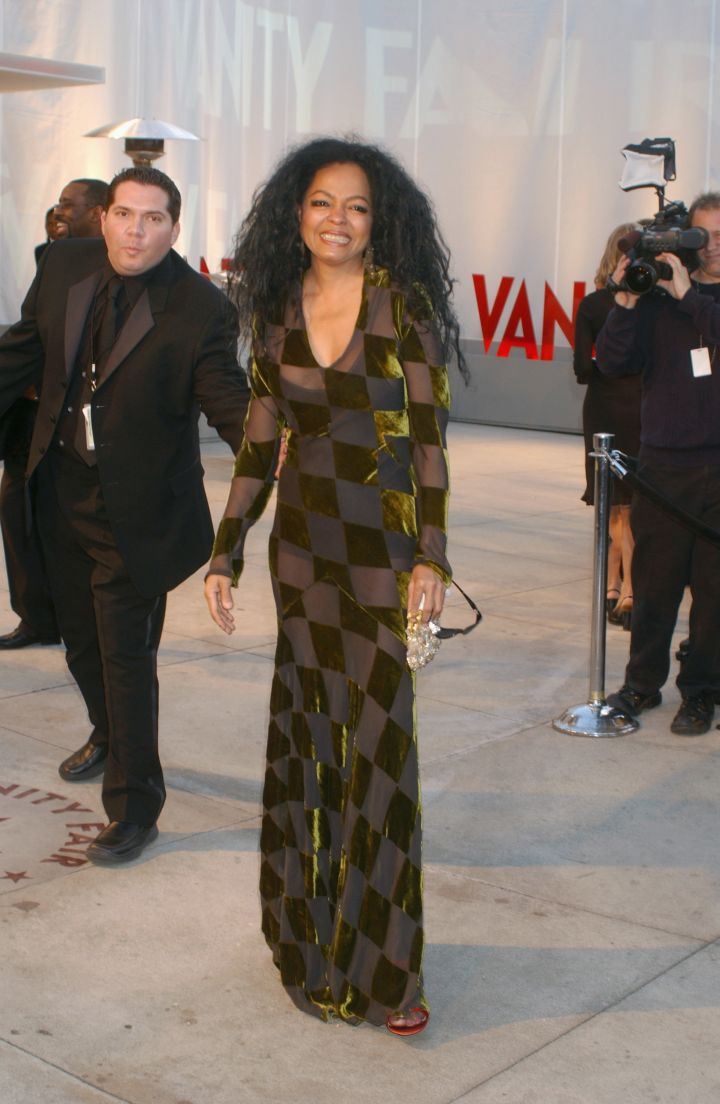 Diana Ross arrives at the Vanity Fair Magazine after-Oscar party at Morton's in Hollywood.