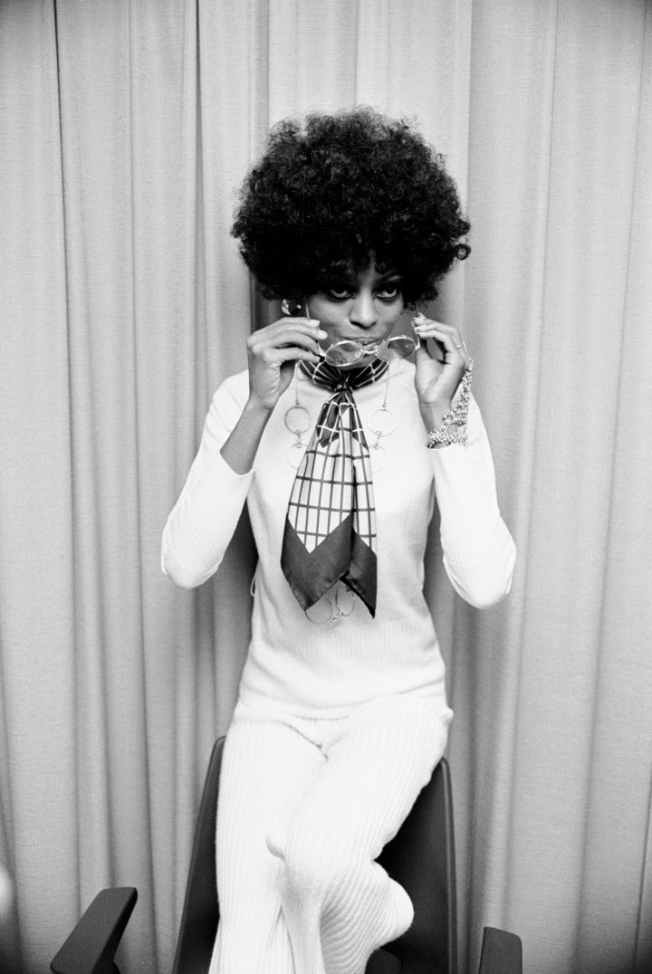 DIANA ROSS AT A PRESS CALL TO PROMOTE 'LOVE CHILD', 1968