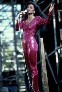 Diana Ross performing in Central Park...