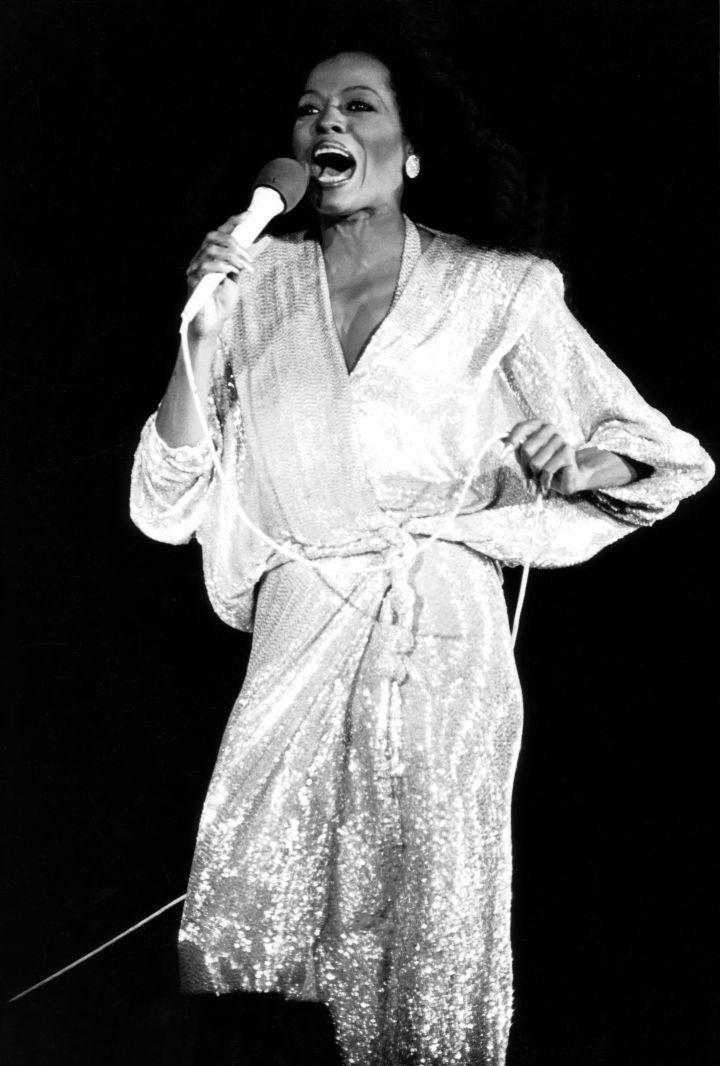 Diana Ross in concert…